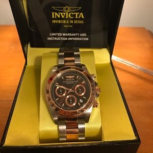 Two Tone Rose Gold Invicta Watch